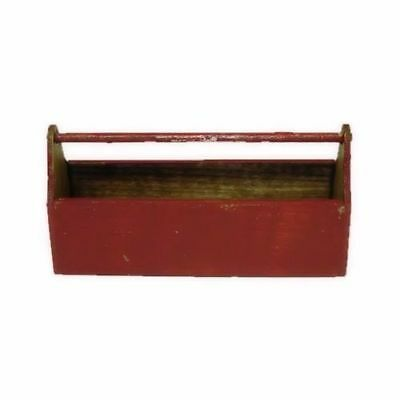 Sir Thomas Thumb Artisan Crafted Red Wood Tool Tote Box 1:12 Dollhouse Miniature