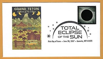 Grand Teton Summer of the Eclipse.  Total Solar Eclipse of the Sun. FDC