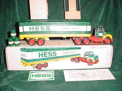 76 Holiday Xmas Christmas Vintage Hess Trucks Old 1976 Toy Barrel Truck Toys
