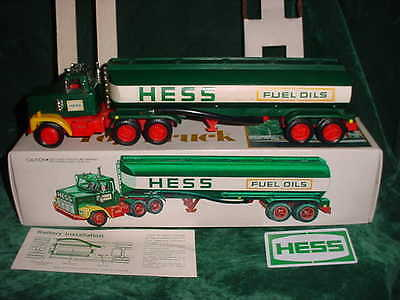Rare 77 Holiday Collectible Hess Trucks 1977 Black Switch Toy Tanker Truck Toys