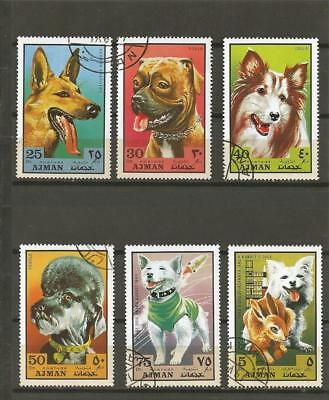AJMAN - 1971 Dogs - COMPLETE USED SET.