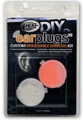 R&G Custom Fit Mouldable Ear Plug Kit + Free Case Motorcycle / Motorbike Racing