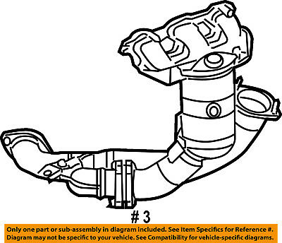 Chrysler Oem Exhaust System Front Pipe 68040250am