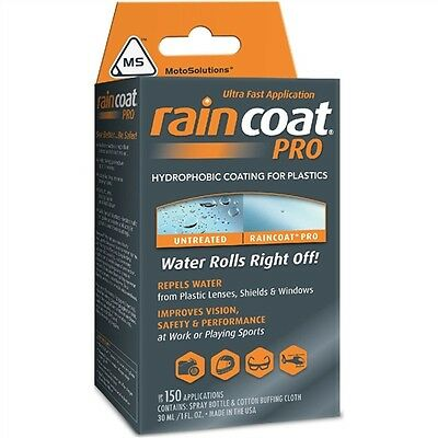 New Spray On Raincoat Pro Motorcycle Helmet Visor Water Repellent Kit