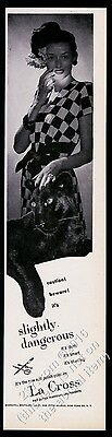 1946 black panther woman photo La Cross Slightly Dangerous nail polish print ad