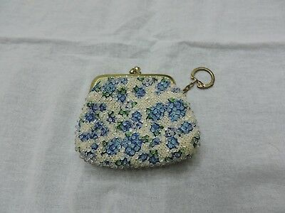 vintage 1960's beaded coin purse