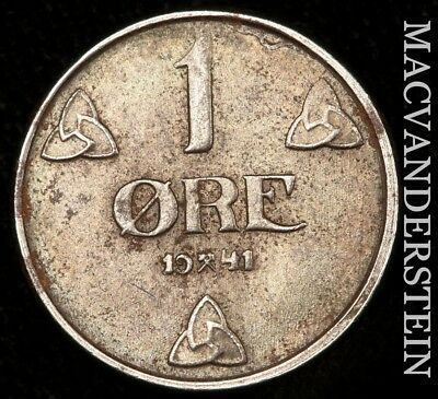 Norway: 1941 One Ore- No Reserve !! Almost Uncirculated !! #x9469