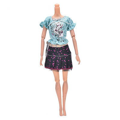 2017 Fashion Handmade Party Dresses Clothes For Barbie Noble Doll Best Gifts ESU