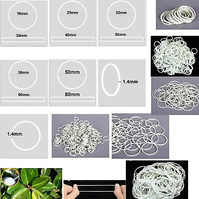 White Natural Rubber Strong Elastic Bands 1.4mm Width Eco Quality Home Office