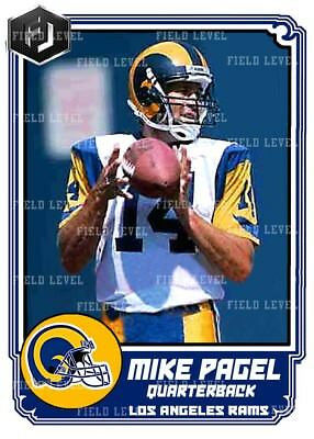 Aceo Mike Pagel Los Angeles Rams Custom Hand Made Art Card