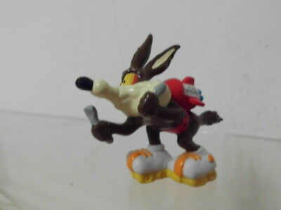 Bugs Bunny Looney Figur Applause 1988 ca. 6 cm: Carl E. Coyote auf Inlineskater