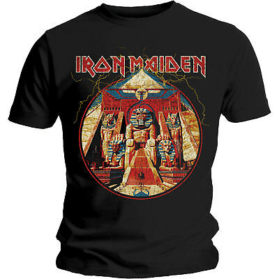 IRON MAIDEN Powerslave Lightning T-Shirt NEW OFFICIAL All Sizes Logo Aces High