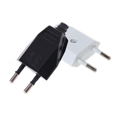 2 Pcs  EU Plug  2 Pin Plugs Network Cables 2.5A 220V Electric Contact