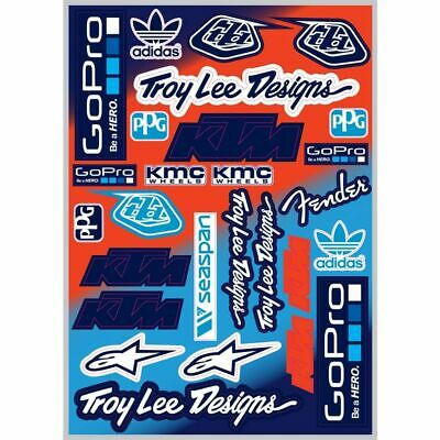 Troy Lee Designs TLD Aufkleber Sticker Sponsoren Pre-Cut KTM 42x30cm