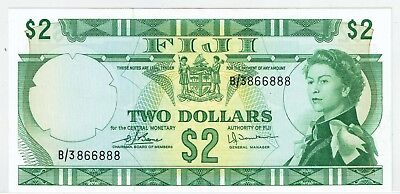 Fiji 2 Dollars ND(1974), P.72c_XF