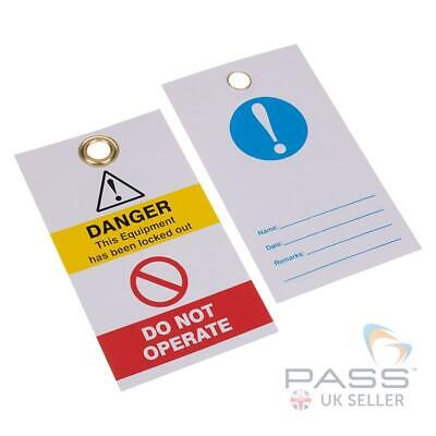Lockout Tagout Tags - Blue Exclamation - Pack of 10