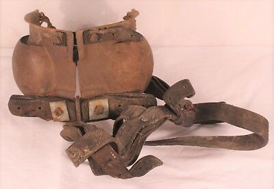 Antique Horse Blinders Iron and Leather - Wall Hanger