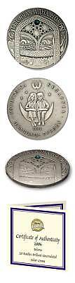 Belarus One Thousand & One Nights 2006 20 Roubles Br. Unc Silver Crown COA