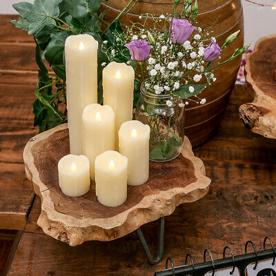 Battery Power Flickering LED Flameless Wax Candles | Various Sizes Indoor Home