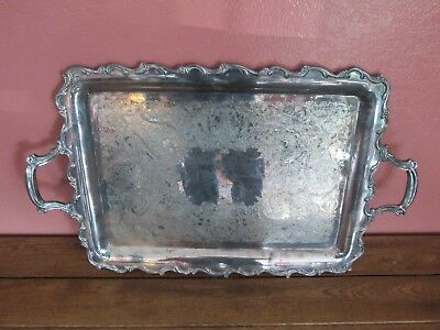 Vintage Webster Wilcox International Silver Co. 7291 Handled Serving Tray