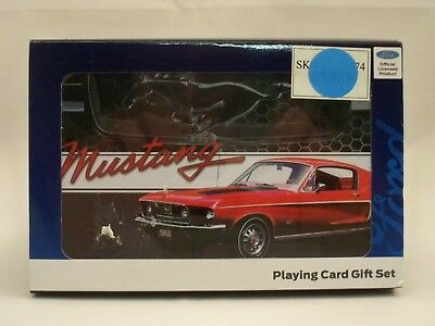 *new* 1968 Mustang Playing Cards Gift Set (2 - Decks In Collectible Tin)