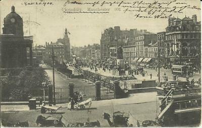 Manchester, Piccadilly Station, Street view,Tram to Old Trafford 1904 to Lauban
