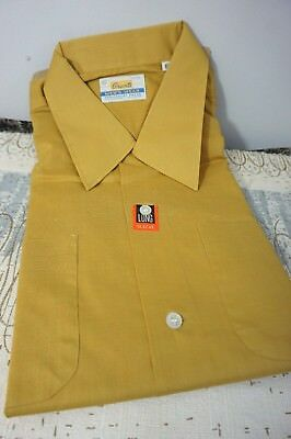 60s DEADSTOCK ~ Vintage GRANT'S ~ Gold Tone  ~ LS / XL SHIRT ~ Perma Press LOOP!