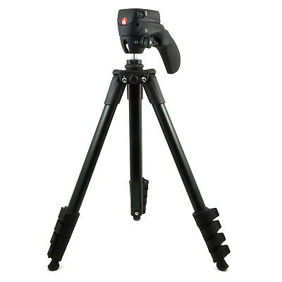 MKCOMPACTACN-BK Manfrotto Compact Action Tripod No Quick Release Plate Used