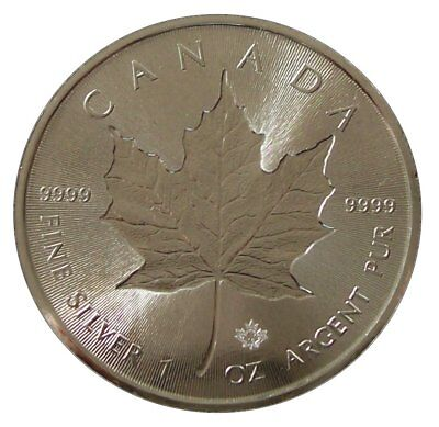 ++ Maple Leaf 2018 - Incuse - 1oz Ag / Silber - 5 CAD ++