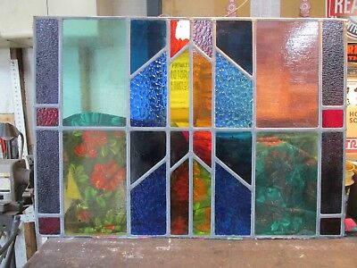 Vintage Leaded Stained Glass Windows From Church- 32 X 44 And 23 X 44