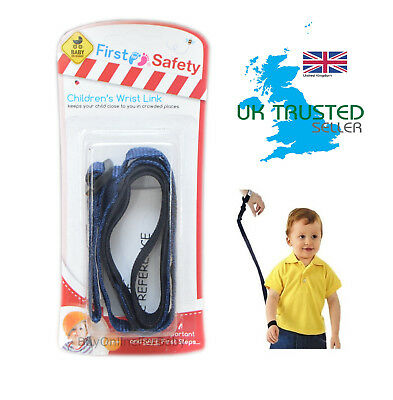 Children's Toddler Harness Safety Strap Adjustable Wrist Link Walking Arm Rein