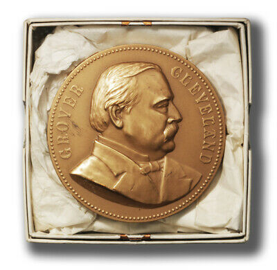 USA James Garfield Presidential Medal Bronze 77 mm With Box