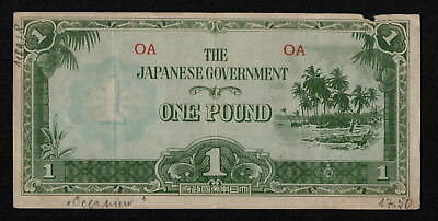 OCEANIA (P4a) 1 Pound ND(1942) F/F+