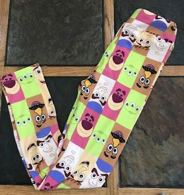 New LulaRoe Disney Toy Story Woody Buzz Alien Kids Leggings L/XL