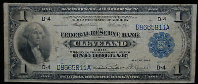 National Currency, Frn Series 1918 $1 (Green Eagle) Cleveland