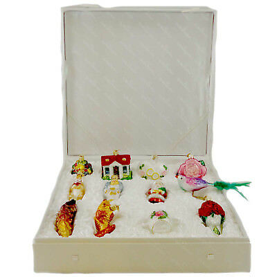 Old World Christmas BRIDE'S COLLECTION Ornament Set Marriage Love Wed 14010