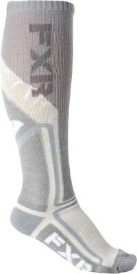 FXR Mission Womens Performance Long Socks White/Gray One Size Fits All