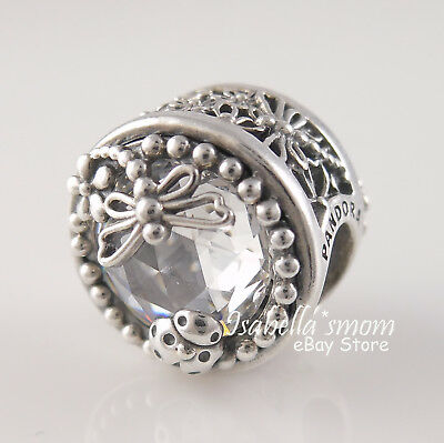 ENCHANTED NATURE Authentic PANDORA Spring 2018 DRAGONFLY Charm 797032CZ w BOX