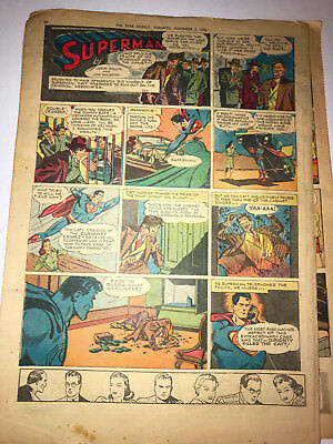11 1946-47 SUPERMAN Sunday Tabloid Comic Pages