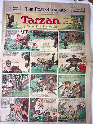 4 1936 Hal Foster TARZAN Sunday Full Pages