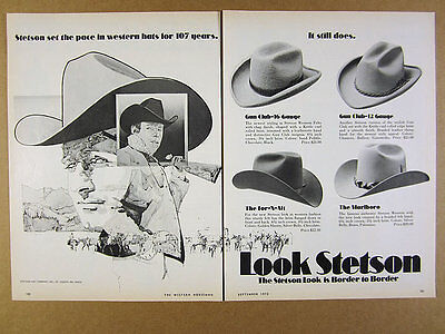 1972 Stetson Western Hats Gun Club For-N-Aft Marlboro styles 1972 IH Internation