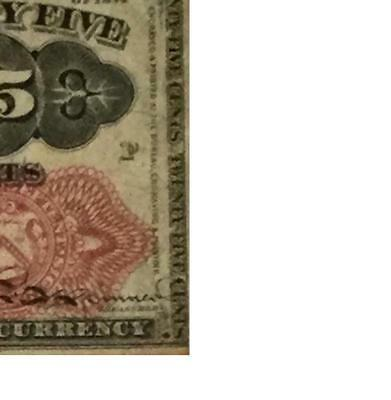 """1874 US Fractional Currency """"TWENTY FIVE CENTS"""" VG! Old US Paper Currency"""