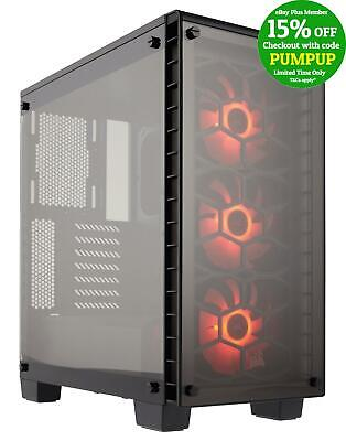 Corsair Crystal 460X RGB BLACK Mid Tower Case w Window Two-Panel Tempered Glass