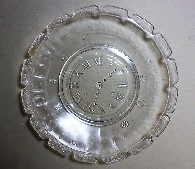 Glass Plate; Alphabet, Numbers, Clock Face. Antique EAPG Child's Plate