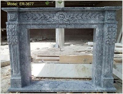 Customize Personal Hand Carved Natural Solid Marble Fireplace Mantel Surround @@