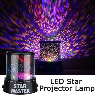 Romantic LED Starry Night Sky Galaxy Projector Lamp Star Light Cosmos Gifts  Hot