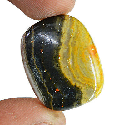 31.00 Cts Earth Mined Pendant Size Untreated Bumble Bee Jasper Loose Gemstone