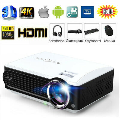 Excelvan Multimedia LED Projector 2000:1 Contrast Ratio Support 1080P VGA HDTV