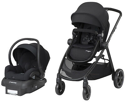Maxi Cosi Zelia Travel System Stroller w/ Mico 30 Infant Car Seat & Base Night