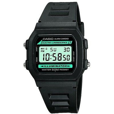 NEW Casio Collection W-86-1VQES Mens Digital LCD Watch Stopwatch Alarm Light etc